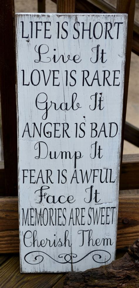 Home Decor Quote Painted Wood Signs Home Decor Marceladick