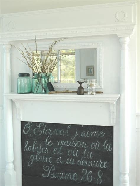 diy chalkboard fireplace in with this idea faux fireplace with a chalkboard