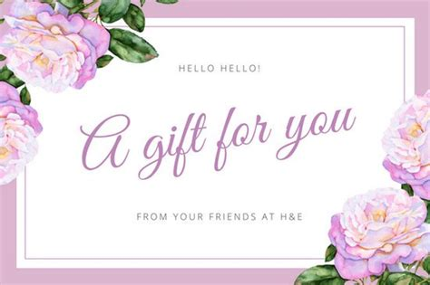 floral gift card template 3 free gift vouchers templates 3ddk studio forms