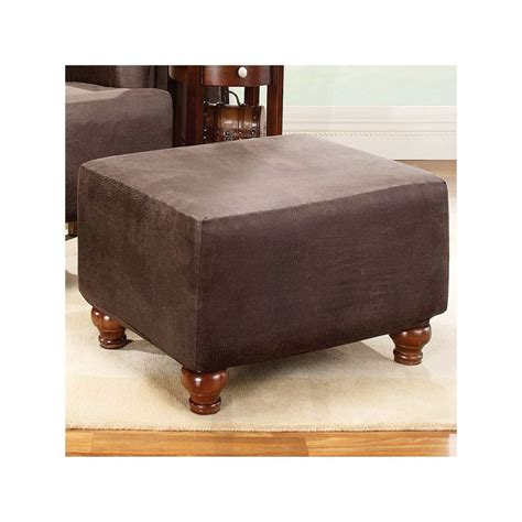 sure fit stretch leather ottoman slipcover 25 best ideas about ottoman slipcover on