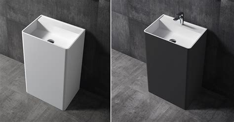 Freestanding Bath With Shower freestanding wash basin twz26 of solid stone 50x36x85cm