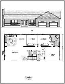 2 Bedroom Ranch Floor Plans bedroom house floor plans with garage2799 0304 room ranch plan