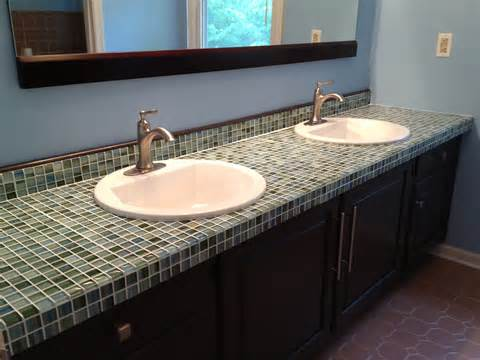 formica to fabulous tiling a glass mosaic countertop a