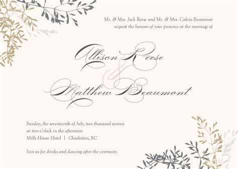 marriage invitation card templates free wedding invitation wedding invitations template superb