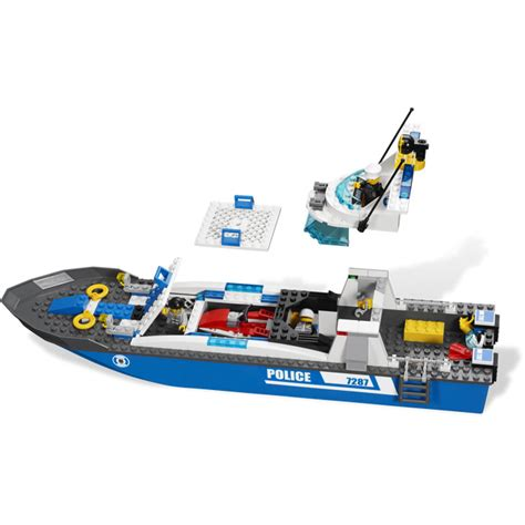 boat sets lego police boat set 7287 brick owl lego marketplace