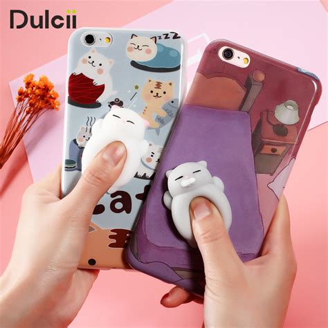 Sale For Iphone 7 Cat Mouse With Squishy Soft Casing aliexpress buy phone for iphone 6 6s 6 plus 3d