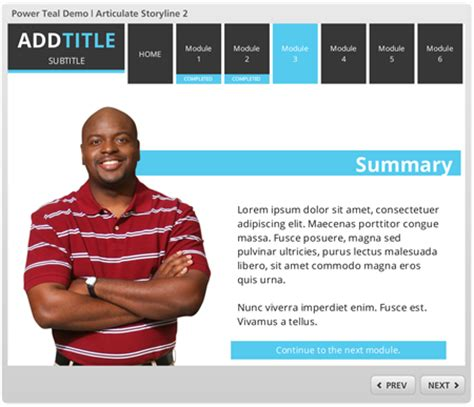 Free E Learning Template For Powerpoint And Articulate Storyline The Rapid E Learning Blog Elearning Templates Storyline