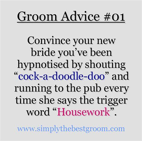 Groom Advice #01   Being Responsible   Funny wedding
