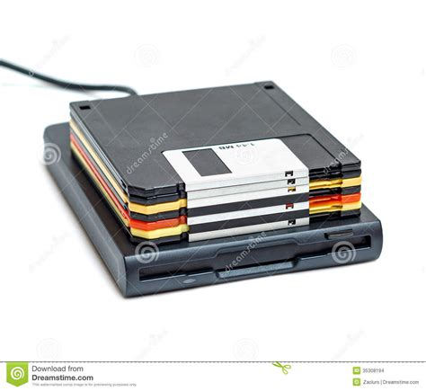 Usb External Disk external usb floppy disk drive with disks isolated stock photo image 35308194