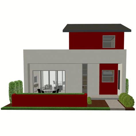 house plans modern contemporary small house plan