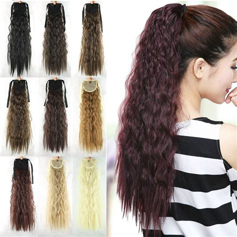Hairclip Ponytail Curly new style 55cm synthetic ponytail curly