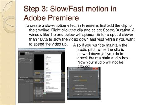 adobe premiere pro slow motion effect how to create an effect on adobe premiere
