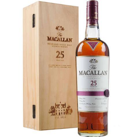 The 25 Years the macallan 25 year sherry oak single malt scotch