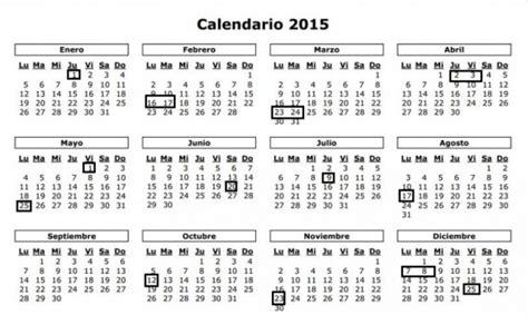 Calendario De Feriados 2015 191 El 29 De Junio Es Feriado El Aspirante