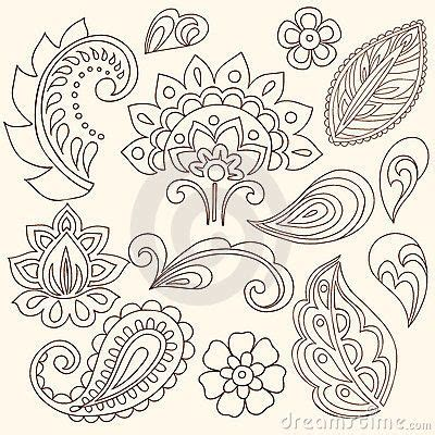flor do rio on pinterest abstract flowers vector hand drawn abstract henna mehndi flowers and paisley