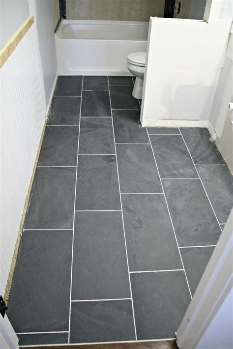 bathroom slate floor tiles best 25 12x24 tile ideas on bathroom tile