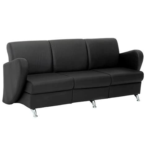 sillas sofa sof 225 de 3 plazas alce negro sillas para oficina