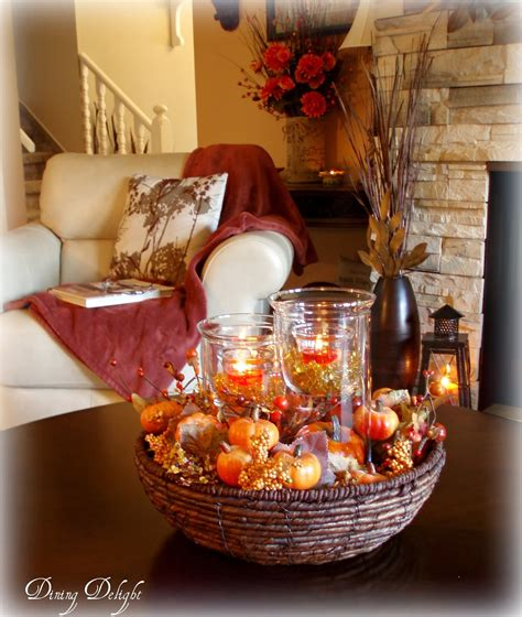 fall centerpieces dining delight fall coffee table centerpiece