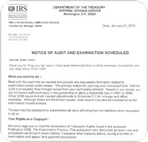 audit notice  printable documents