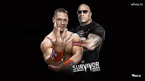 wrestler john cena   rock survivor series hd wwe