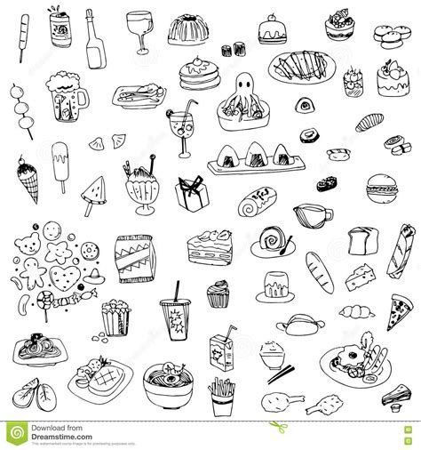 doodle sketch vectors free food and drink sketch drawing vector drawing food and