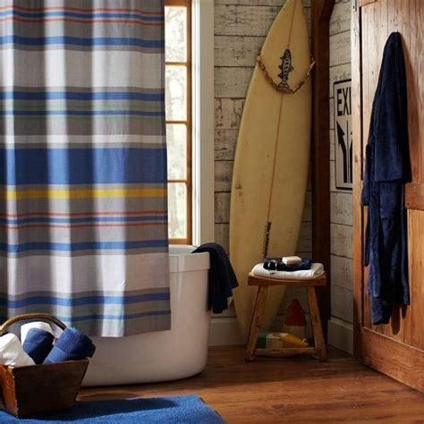 southport stripe shower curtain boys bathroom