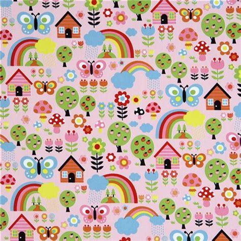 Charming High Quality Christmas Wrapping Paper #3: Pink-flower-rainbow-glitter-Kokka-fabric-kawaii-101088-2.jpg