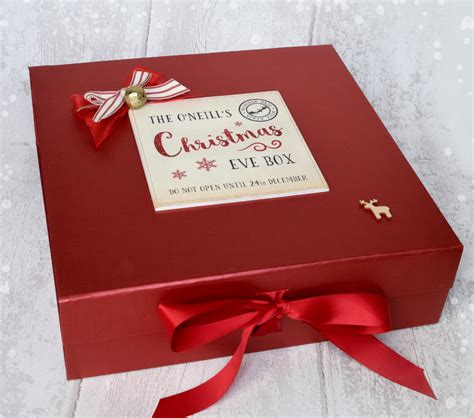 personalised christmas eve box large laura godbold design