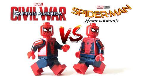 Lego Kw Captain America Civil War Costume Minifigure new lego spider homecoming 2017 vs captain america civil war spider minifigures