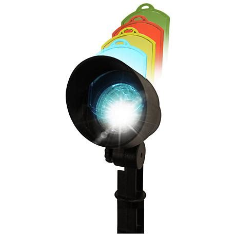 Solar Multi Color 6000k 1 Watt Led Black Spot Light Multi Color Solar Lights