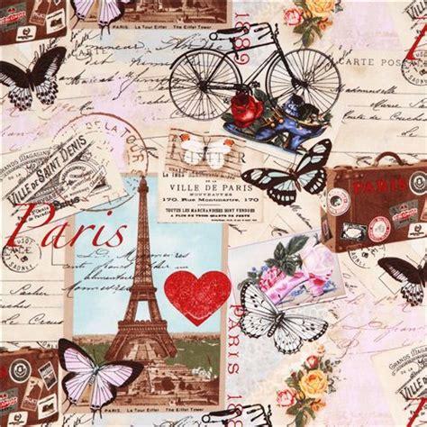 imagenes retro paris beige vintage paris eiffel tower fabric timeless treasures
