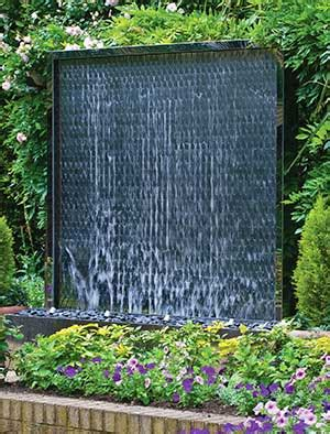 garden water features uk stainless steel water walls