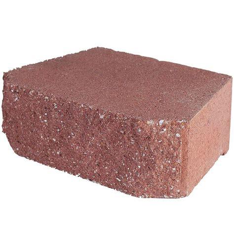 home depot decorative bricks pavestone 4 in x 11 75 in x 6 75 in river red concrete