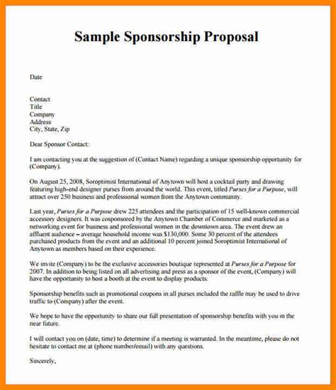 Sponsorship Letter Athlete 10 Athlete Sponsorship Template Resumed