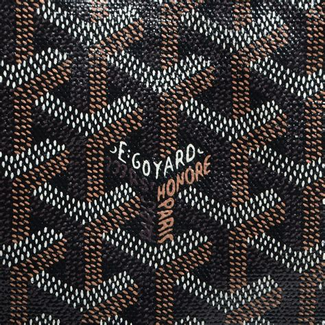 GOYARD Chevron St. Louis PM Black 73198