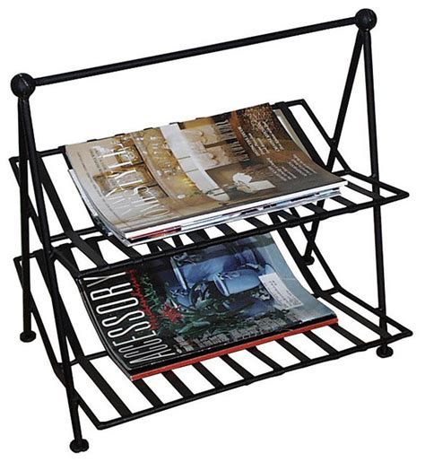 black wrought iron magazine rack magazine