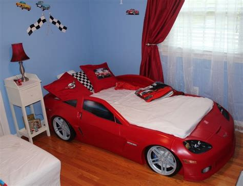 corvette bedding amazon com step2 corvette bed with lights red silver