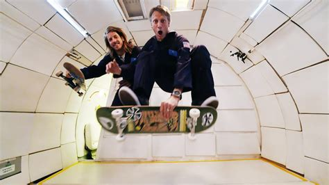zero gravity tony hawk and jaws skate in zero gravity ride channel