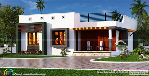 box type home in beautiful style kerala home design and box type single floor house kerala home design and floor