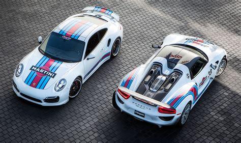Porsche Tequipment Aufkleber by Martini Racing 911 Turbo And 918 Spyder 720x1148 Carporn