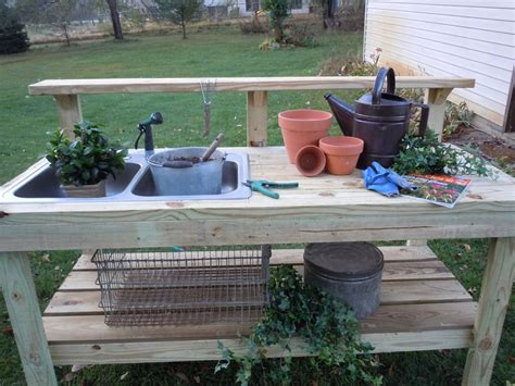 outdoor potting bench with sink everything in between by kelly tiffany potting bench