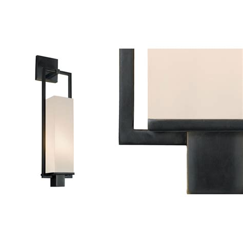 Black In Wall Sconce Metro Black Brass One Light Wall Sconce Sonneman Flush To