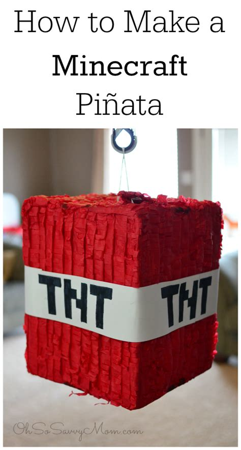 How To Make A Paper Pinata - image gallery minecraft pinata