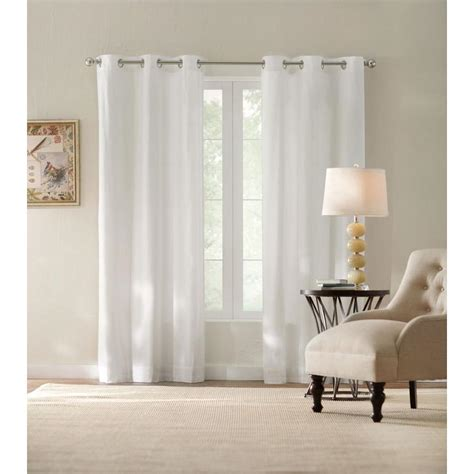 white backed curtains home decorators collection semi opaque white cotton duck