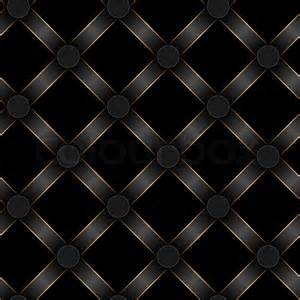 seamless black ribbon and gold strip pattern stock photo
