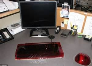 Office Desk Pranks Most Outrageous Office Pranks Pictured Daily Mail