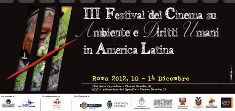 consolato ecuador roma comunicato sta iii festival di cinema sull ambiente e