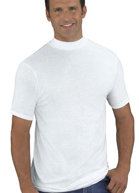 Mock Neck Plain T Shirt jockey mens mock neck t shirt 2 pack t shirts shirts 100