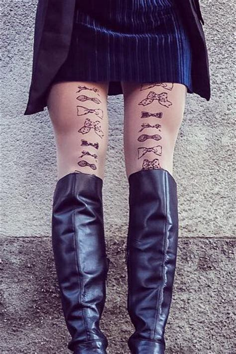 bow tie tattoo on back of legs legs bow ties tights fashion ranges calzessa