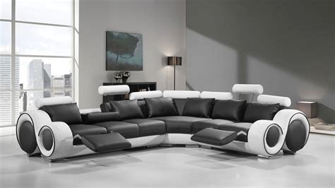 black modern sofa modern leather sectional sofa with recliners